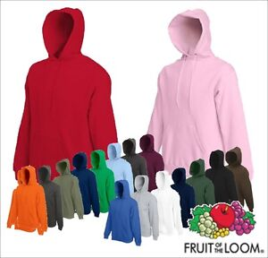 FRUIT-OF-THE-LOOM-Kapuzen-Sweat-Shirt-Hoodie-Kapuzensweatshirt-S-M-L-XL-XXL