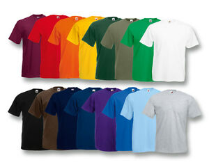FRUIT-OF-THE-LOOM-T-SHIRT-VALUEWEIGHT-T-S-M-L-XL-XXL-XXXL-3XL-NEU-SHIRTS-SHIRT