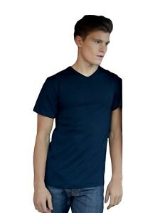 FRUIT-OF-THE-LOOM-T-Shirt-mit-V-Ausschnitt-v-neck-herren-NEU