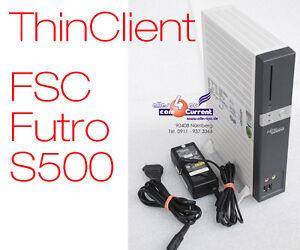 FSC-FUJITSU-SIEMENS-THINCLIENT-FUTRO-S500-NETZTEIL-2x-RS-232-STANDFUSS-LAUTLOS