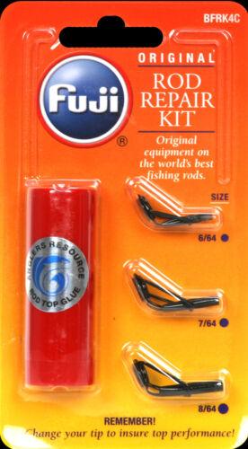 Fuji fishing rod guide tip repair kit 3 sizes glue bfrk4c for Fishing pole repair