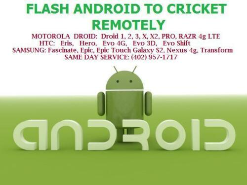 FULLY FLASH SAMSUNG ANDROID PHONE REMOTELY TO CRICKET GALAXY S S2, S3, MESMERIZE in Specialty Services, Item Based Services, Installations & Support | eBay