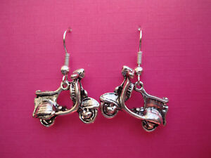 FUNKY-SILVER-VESPA-SCOOTER-EARRING-KITSCH-RETRO-CUTE