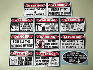 Funny Welder Sticker Collection Tool Box Welding Metal Mig Tig