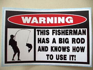 Funny warning fishing bass trolley bait lure tackle box for Funny fishing lures