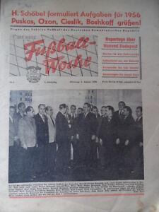 FUWO-1-3-1-1956-Honved-Budapest-Ansetzungsplan-Oberliga-DDR-Liga-Lok-Stendal