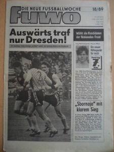 FUWO-18-3-5-1989-3-Cottbus-Dresden-0-1-Jena-1-FCM-3-0-HFC-Chemie-Union-3-0