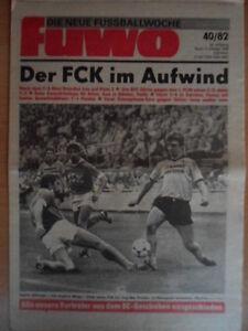 FUWO-40-5-10-1982-Menge-FCK-Dresden-3-2-EC-HSV-BFC-2-0-Bremen-Frankfurt-0-2