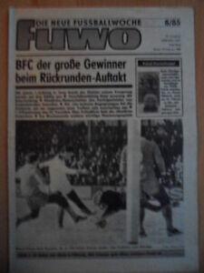 FUWO-8-19-2-1985-3-Naumann-Frankfurt-Suhl-7-0-Erfurt-Rostock-1-0-Jena-BFC-0-1
