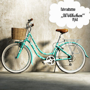 fahrradaufkleber fahrradsticker aufkleber fahrrad sticker tattoo wolken 100 stk ebay. Black Bedroom Furniture Sets. Home Design Ideas
