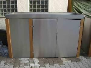 fahrradbox edelstahl neu bankirai fahrradunterstand fahrr der gartenm bel. Black Bedroom Furniture Sets. Home Design Ideas