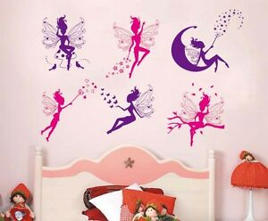 Fairy Design Wall Stickers Baby Girl Room Decor Decals Mural DIY Decoration A
