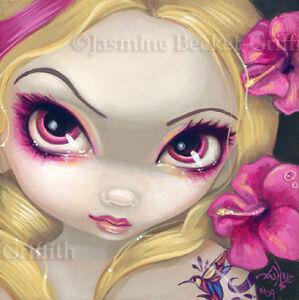 Jasmine Flower Picture on Fairy Face 46 Jasmine Becket Griffith Art Fantasy Flower Tattoo Signed