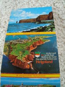 Faltkarte-Helgoland-mit-14-Bildern-bunt-80er-Jahre