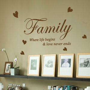 Wall decals family quotes uk Color the walls of your house