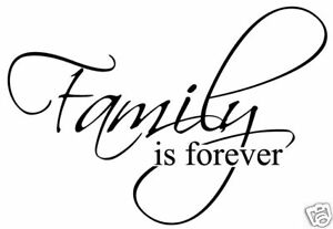 Family Is Forever Vinyl Sticker Decal Wall Quote Decor Ebay