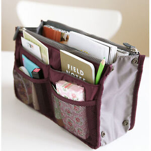 Makeup Caddy on Fashion Cosmetic Makeup Organizer Purse Pocket Travel Case Pouch Mini