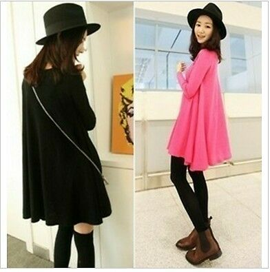 Fashion Lady Girl's Large Hem Dress Skirt 2 colors
