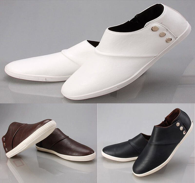 Fashion Men's Flats Ankle Boots Business Shoes Slip On Sneakers Loafers Casual
