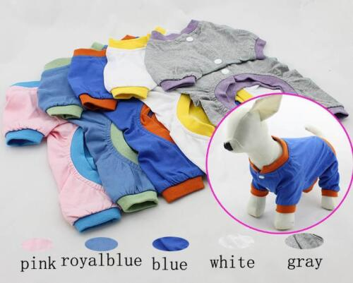 Fashion dog Clothing Pet pajamas Dog 4 Feet T-shirts Pajamas 5 Color 100% Cotton in Pet Supplies, Dog Supplies, Apparel | eBay