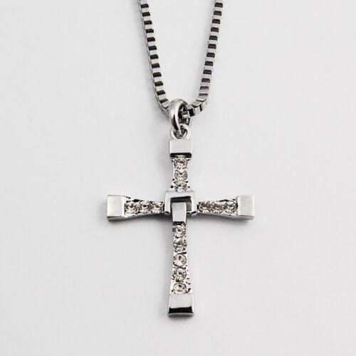 kreuz cross halskette anh nger kette necklace 14 strass. Black Bedroom Furniture Sets. Home Design Ideas