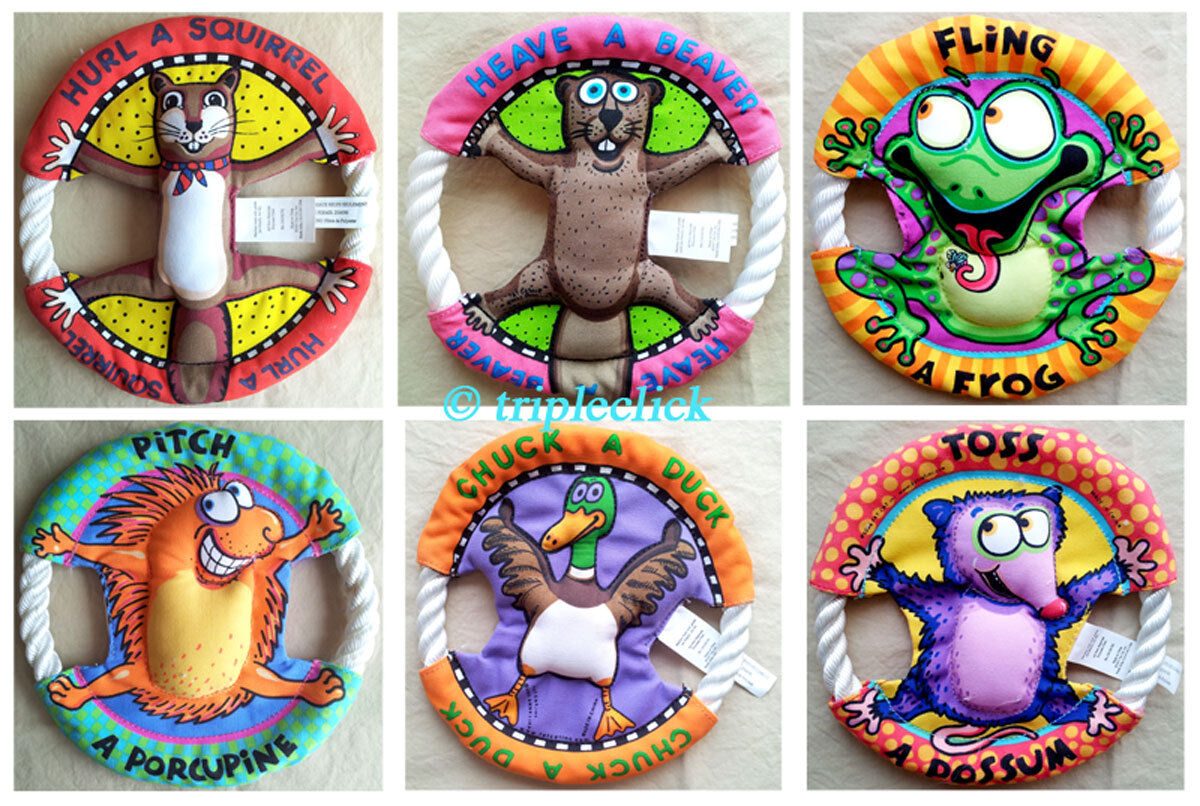 Fat Toy Dogs : Fat cat dog toy rings puppy rope canvas flyer frisbee disc