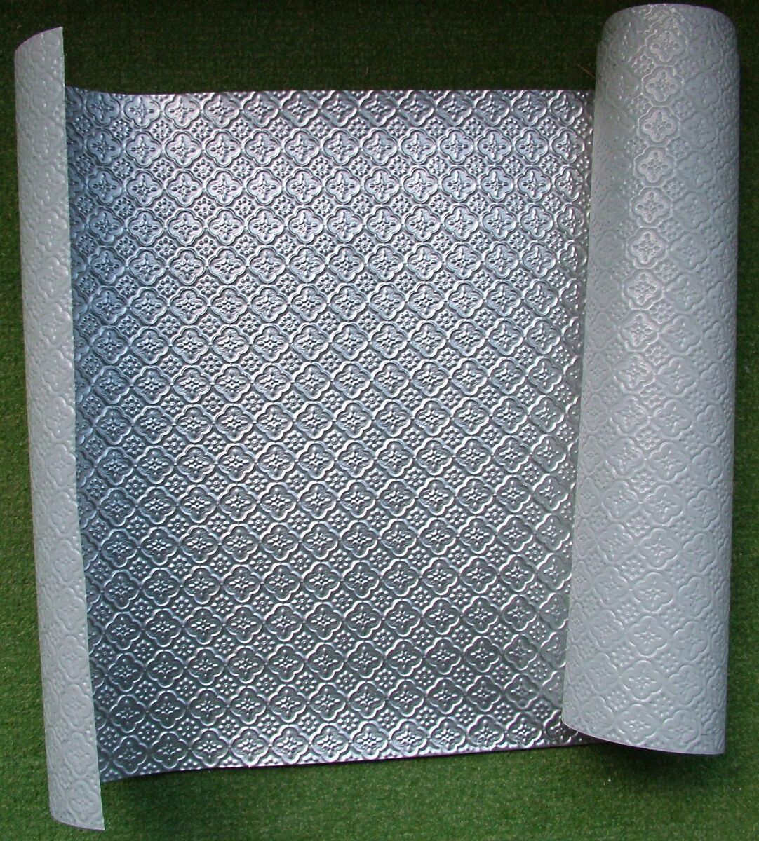 - Faux Tin Kitchen Backsplash Roll WC20 Stainless Steel For Seamless
