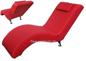 Faux Leather Recliner Chaise Chair Red Easy Relax Reclining Lounge Chair EBay