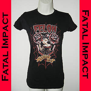 Felon-Lucky-13-Venom-Miss-Pin-Up-Girl-Black-T-Shirt-S