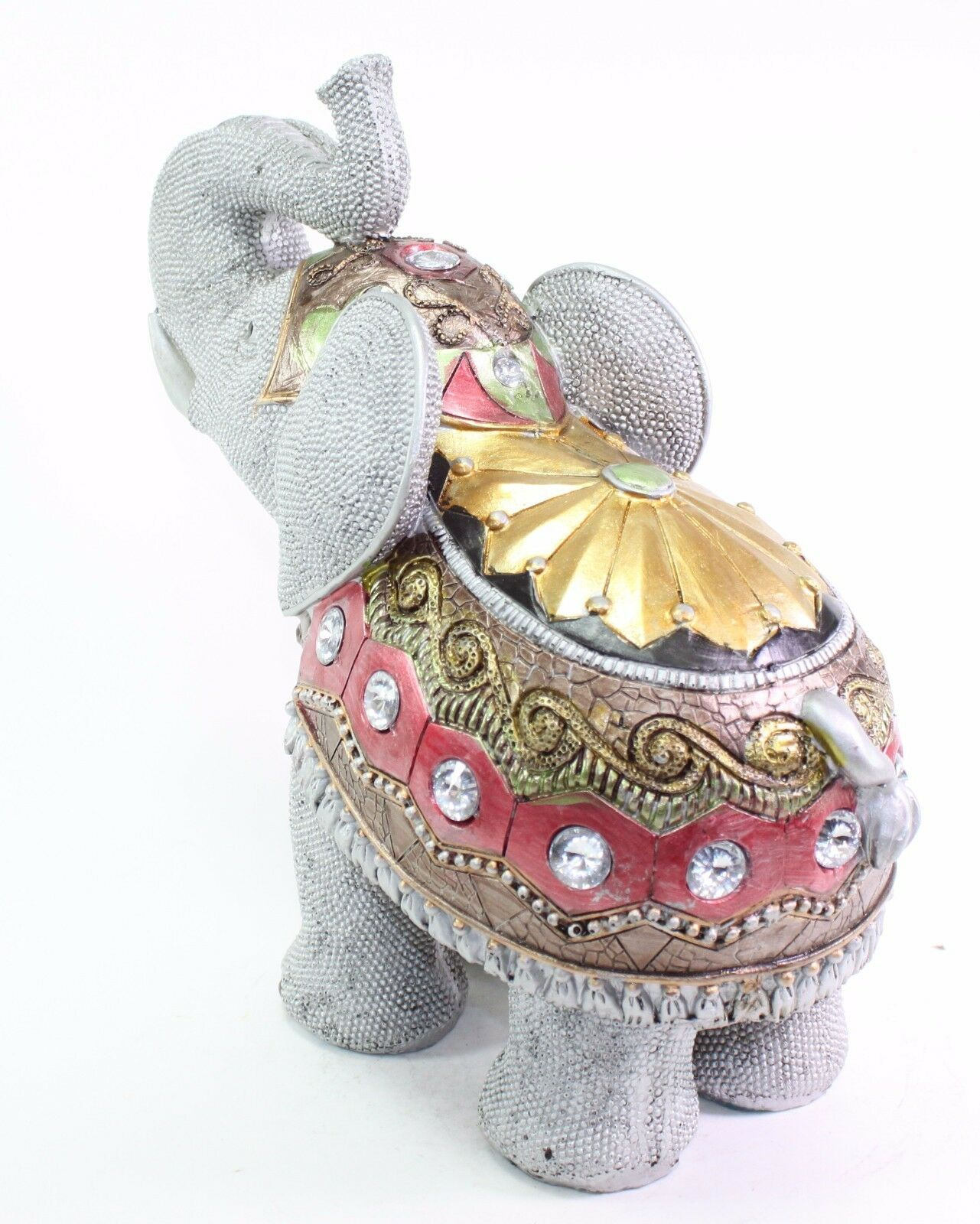 feng shui 10 gray elephant trunk statue lucky figurine gift home decor 4861653173802 ebay. Black Bedroom Furniture Sets. Home Design Ideas