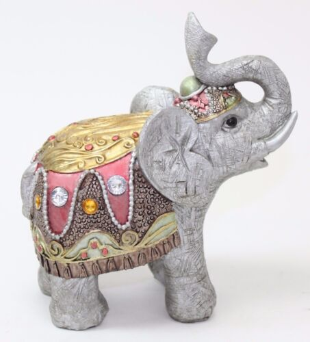 feng shui 4 gray elephant figurine wealth lucky figurine gift home decor ebay. Black Bedroom Furniture Sets. Home Design Ideas