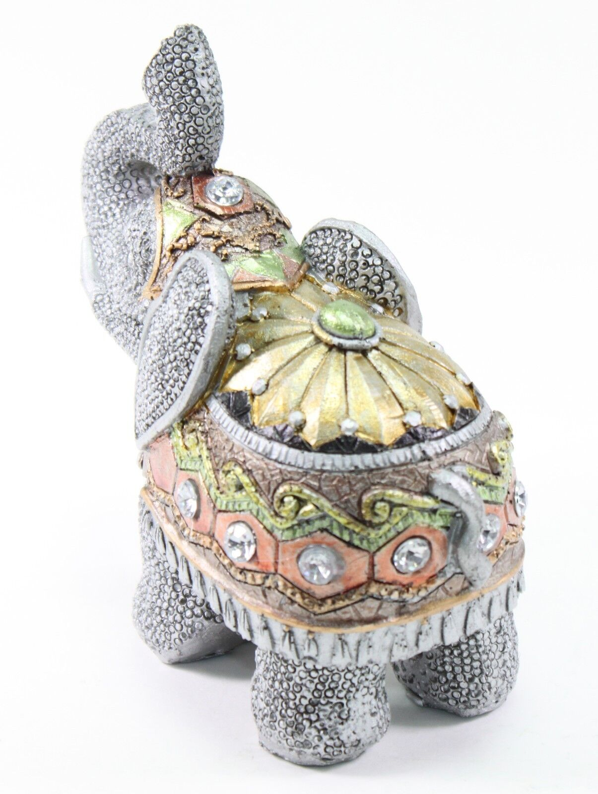 Feng shui 5 gray elephant trunk statue lucky figurine gift home decor ebay Colorful elephant home decor