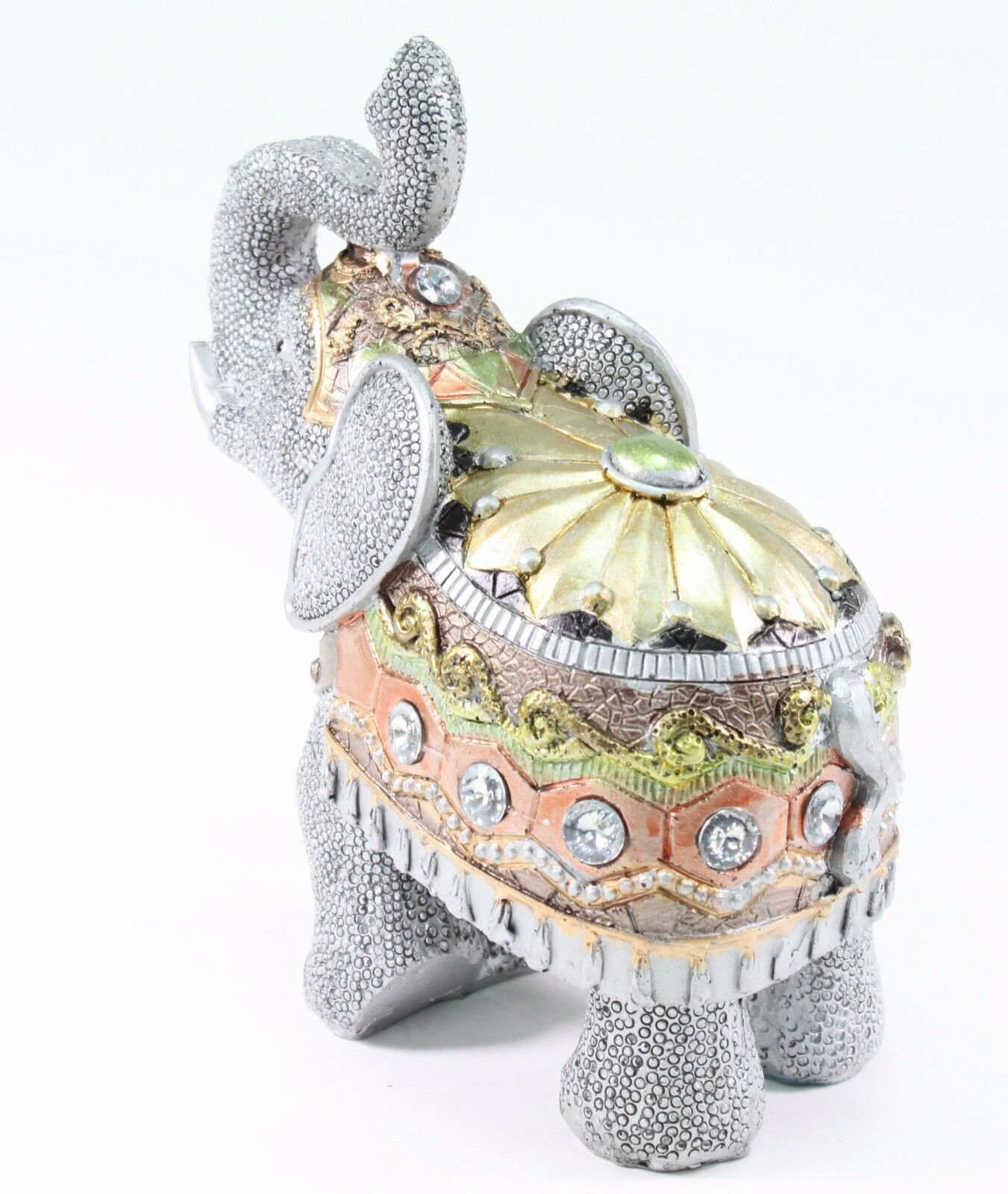 feng shui 6 5 gray elephant trunk statue lucky figurine gift home decor ebay. Black Bedroom Furniture Sets. Home Design Ideas