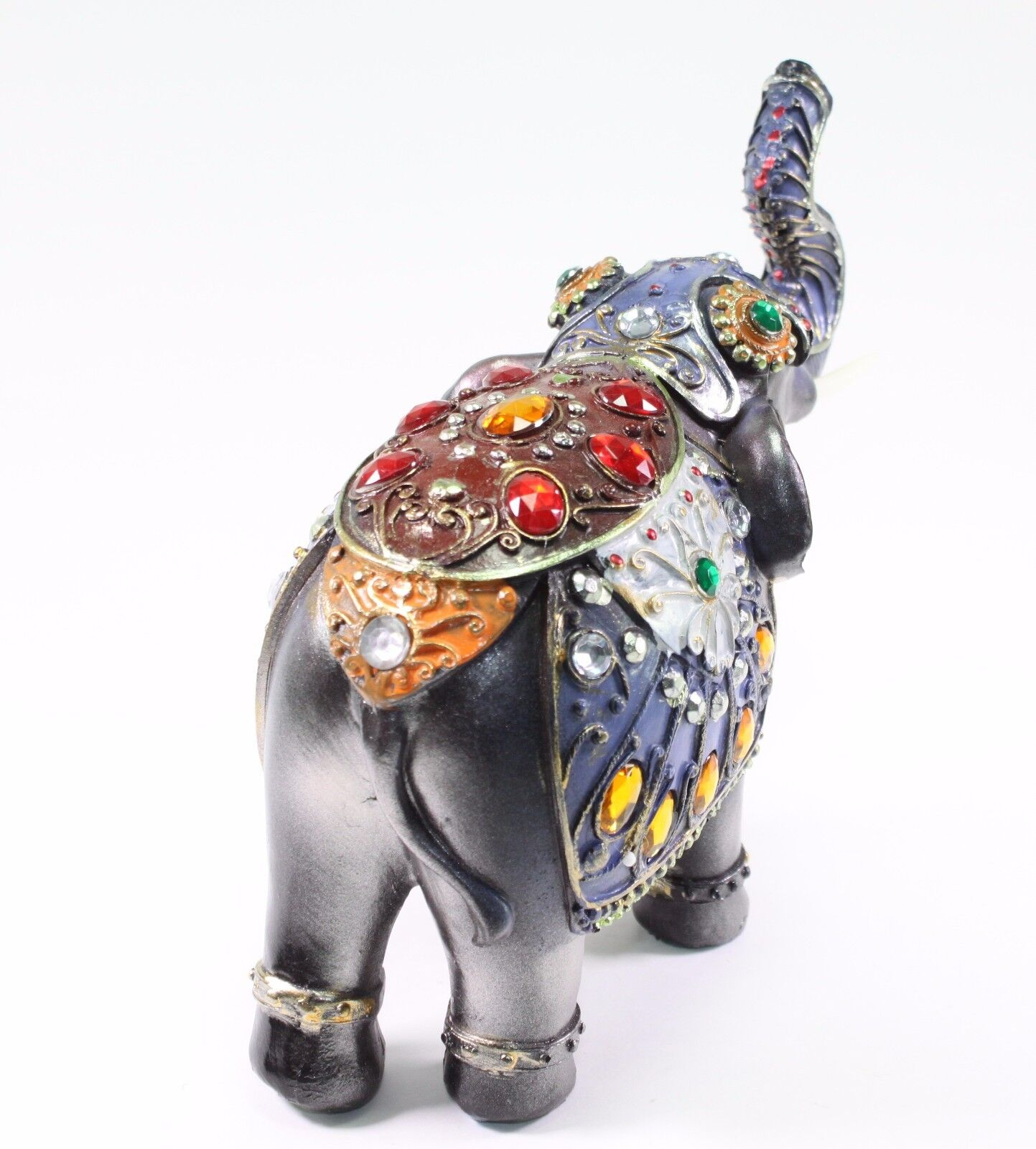 feng shui 7 dark gray elephant trunk statue lucky figurine gift home decor. Black Bedroom Furniture Sets. Home Design Ideas