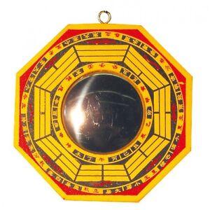 feng shui chinesischer bagua spiegel konkav 15cm holz ebay. Black Bedroom Furniture Sets. Home Design Ideas