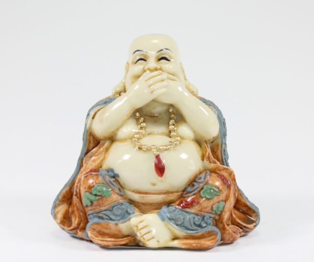 Feng shui speak no evil happy face laughing buddha Eba home interior figurines
