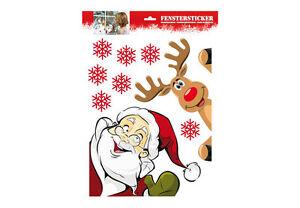 Fensterfolie weihnachten fenstersticker fenster rentier fensterbild deko advent ebay - Fensterfolie weihnachten ...