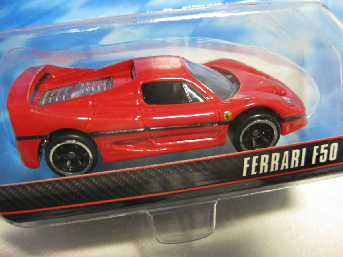 Ferrari F50 1 64 Hot Wheels Speed Machines Diecast Mint W2312 0718