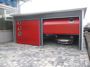fertiggarage gro raumgarage doppelgarage garage 6 x 6 m mit sektionaltor ebay. Black Bedroom Furniture Sets. Home Design Ideas