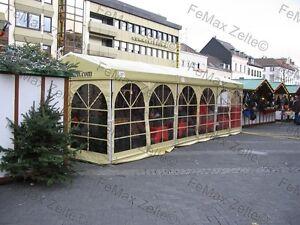 Festzelt-Partyzelt-Bewirtungszelt-Weihnachtsmarkt-4x6m-2-25m-Elfenbein