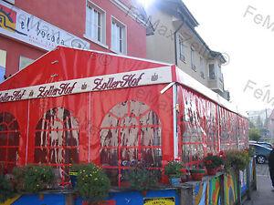 Festzelt-Partyzelt-Raucherlounge-Gastrozelt-4x6m-Cola-Rot-9x-Fenster
