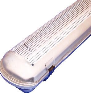 Feuchtraumwannenleuchte-Neonroehre-Wannenleuchte-Feuchtraum-Edelstahlclips-Lampe
