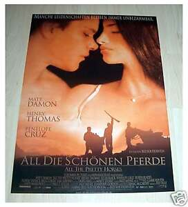 Filmposter-gerollt-Neu-Plakat-All-die-schoenen-Pferde