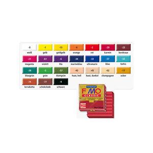 Fimo-Classic-Modelliermasse-56-g-verschiedene-Farben-Knete