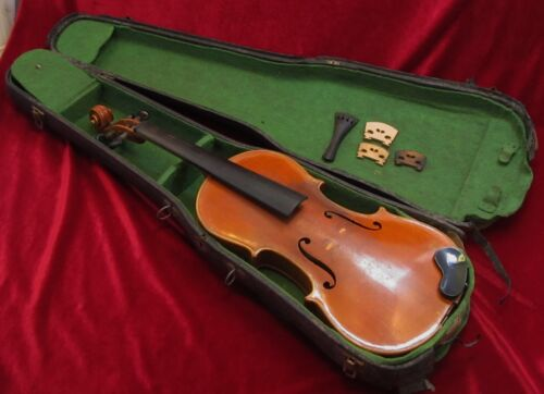 Fine Antique German Antonius Stradivarius 4/4 Violin in Musical Instruments & Gear, String, Violin | eBay