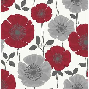 fine decor poppie floral wallpaper fd14866 poppy feature