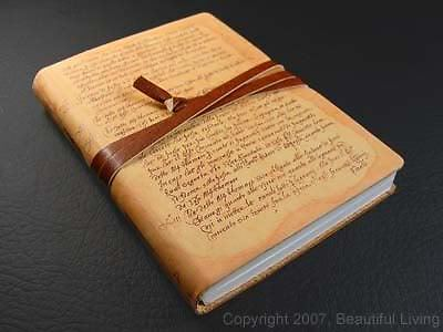 "Fiorentina Scrittura Soft Leather Lined Writing Journal Pocket-Sized 3¾"" x 5¼"" in Books, Accessories, Blank Diaries & Journals 