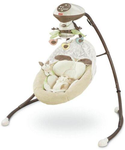 Fisher-Price Cradle 'N Swing My Little Snugabunny V0099-9755 DOM: 3322SQ2 in Baby, Nursery Furniture, Bassinets & Cradles | eBay