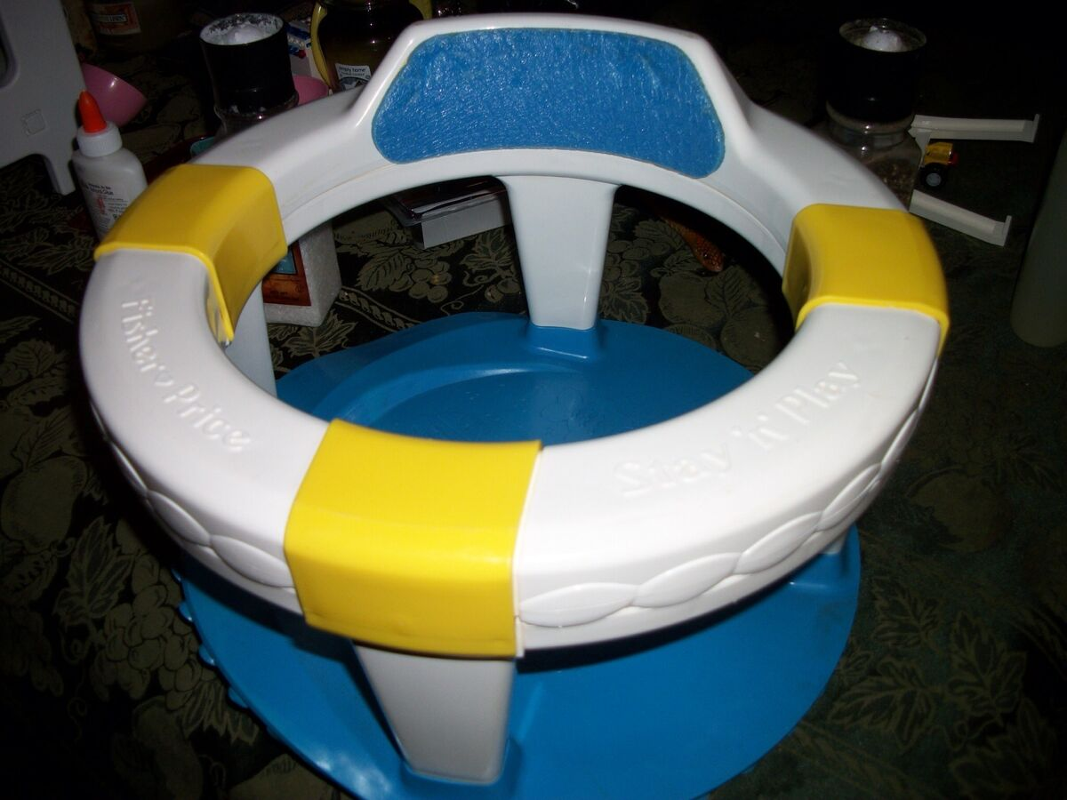 Fisher Price Stay N Play Buoy Infant Baby Bath Safety Seat Ring