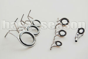 Fishing rod eyes 7 pcs vintage oval fishing rod guides for Replacement eyes for fishing rods